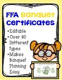 FFA Banquet Certificates