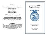 FFA Banquet Program / Pamphlet