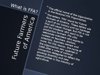 FFA Basics Slide Show (PowerPoint Only)