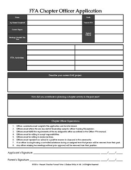 FFA Chapter Office Application