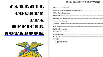 FFA Chapter Officer Workbook
