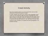 FFA Creed Paragraph 1 Activity