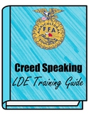 FFA Creed Speaking LDE Training Guide