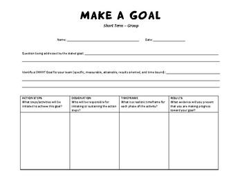 Graphic Organizer: Goals Worksheet