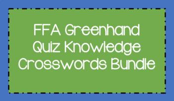 FFA Greenhand Quiz Knowledge Crosswords Bundle
