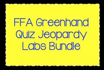 FFA Greenhand Quiz Jeopardy Labs Bundle