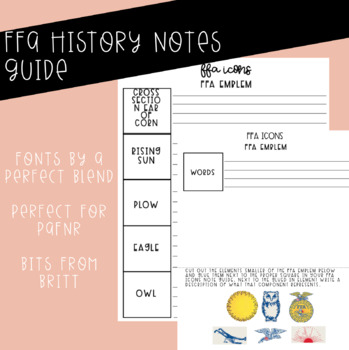 FFA Icons Notes Guide