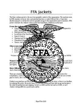 FFA Jacket Handout