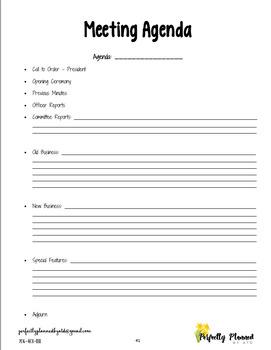 FFA Officer Notebook - Secretary