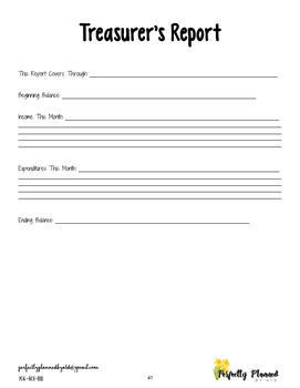 FFA Officer Notebook - Treasurer