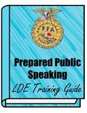 FFA Prepared Public Speaking LDE Training Guide