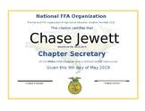 FFA Retiring Officer Awards