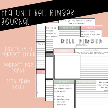 FFA Unit Bell Ringers