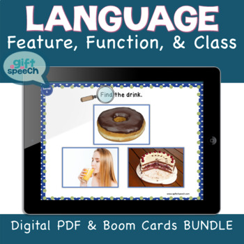 Distance Learning Wh Questions FFC Digital Bundle w BOOM CARDS Speech Therapy