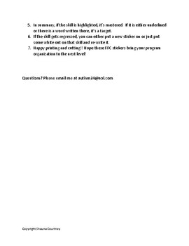 FFC Sticker Printing Instruction Sheet