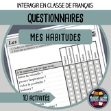 Speaking activities to teach French/FFL/FLS: Questionnaire