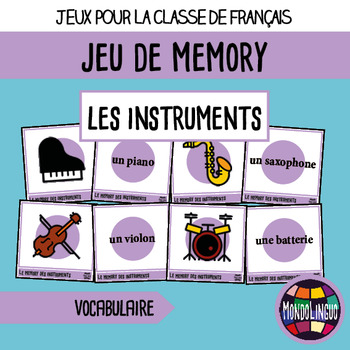 French/FFL/FSL - Games - Memory - Musical Instruments