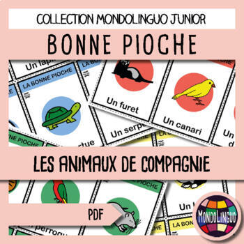 French/FFL/FSL - Card Game - Go Fish - Animaux domestiques/Pets
