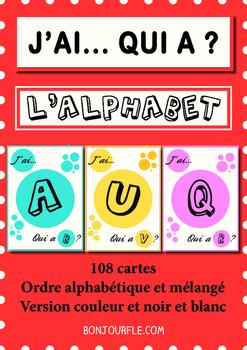 FFL/FSL - Games to teach French - J'ai/Qui a ? - The alphabet