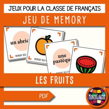 French/FFL/FSL - Games - Memory - Fruit