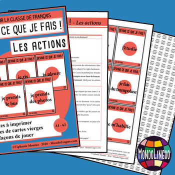 Games to teach French/FFL/FSL: Guess what I'm doing! Actions/Action Verbs
