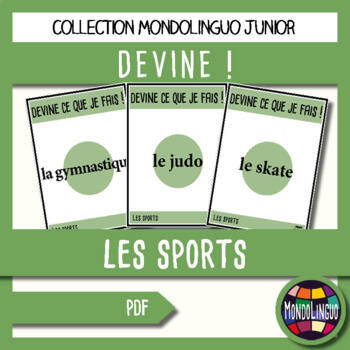 Games to teach French/FFL/FSL: Guess what I'm doing! Sports