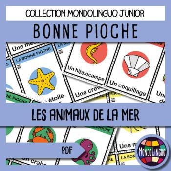 French/FFL/FSL - Games - Go Fish - Ocean Animals