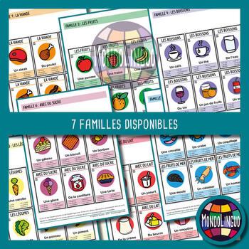 Card game to teach French/FFL/FSL: 7 familles sur la nourriture/Food