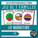 Card game to teach French/FFL/FSL: 7 familles sur la nourr