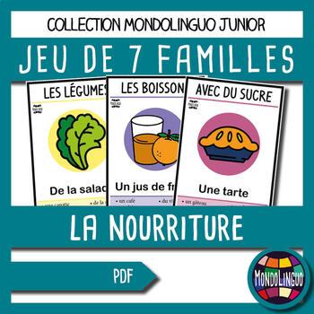 Card game to teach French/FFL/FSL: 7 familles sur la nourr
