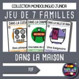 Card game to teach French/FFL/FSL: 7 familles sur la maison/Home