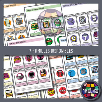 Card game to teach French/FFL/FSL: 7 familles sur la maison/Home