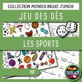 Dice game to teach French/FFL/FSL: Sport