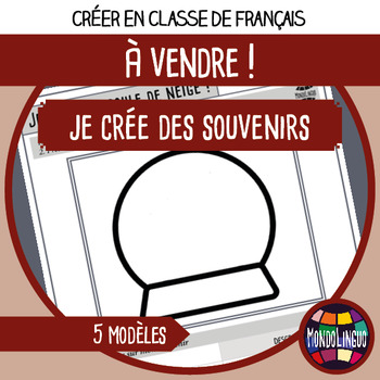 French/FLE/FLS - Creative activities - My own souvenirs