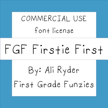 FGF Firstie First -  Commercial Use FONT license