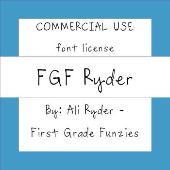 FGF Ryder -  Commercial Use FONT license