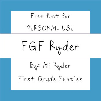FGF Ryder -  Free for Personal Use FONT