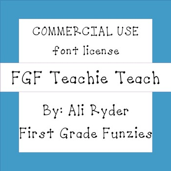 FGF Teachie Teach -  Commercial Use FONT license