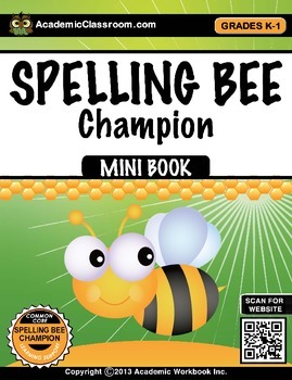I Can Read I Can Write Spelling Bee Champion Word Finder-