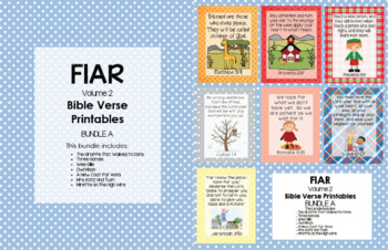 FIAR (Volume 2) Bible Verse Printables - Bundle A
