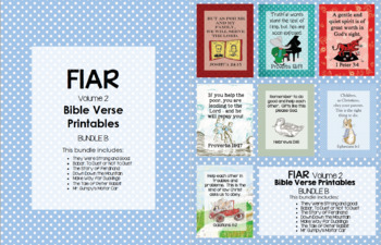 FIAR (Volume 2) Bible Verse Printables - Bundle B