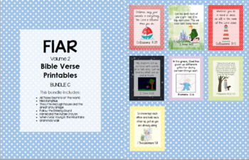 FIAR (Volume 2) Bible Verse Printables - Bundle C