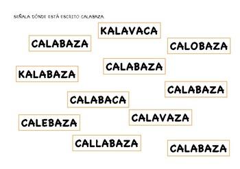 FICHAS ALUMNO LECTOESCRITURA CALABAZAS