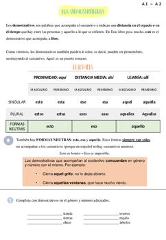 FICHAS ELE | Los demostrativos (A1/2)