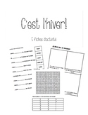 FICHES - ACTIVITES D'HIVER / french winter vocabulary activities