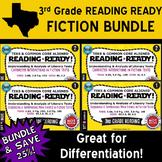 FICTION BUNDLE ~ READING READY 3rd Grade Task Cards – 4 Basic & Advanced Sets
