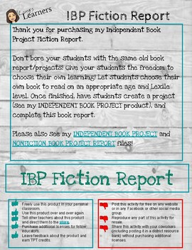 FICTION Book Project Report