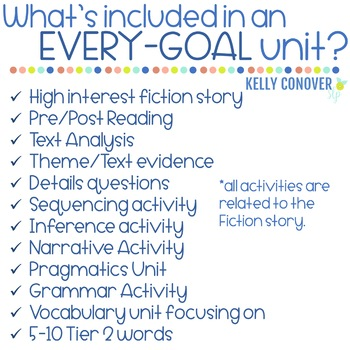 FICTION Every Goal Speech Therapy Units  2018-19 Growing Bundle (PRE-ORDER!)