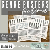 FICTION GENRE POSTERS | Black and White Versions Included!
