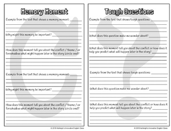 FICTION Notice & Note Signposts Question Booklet
